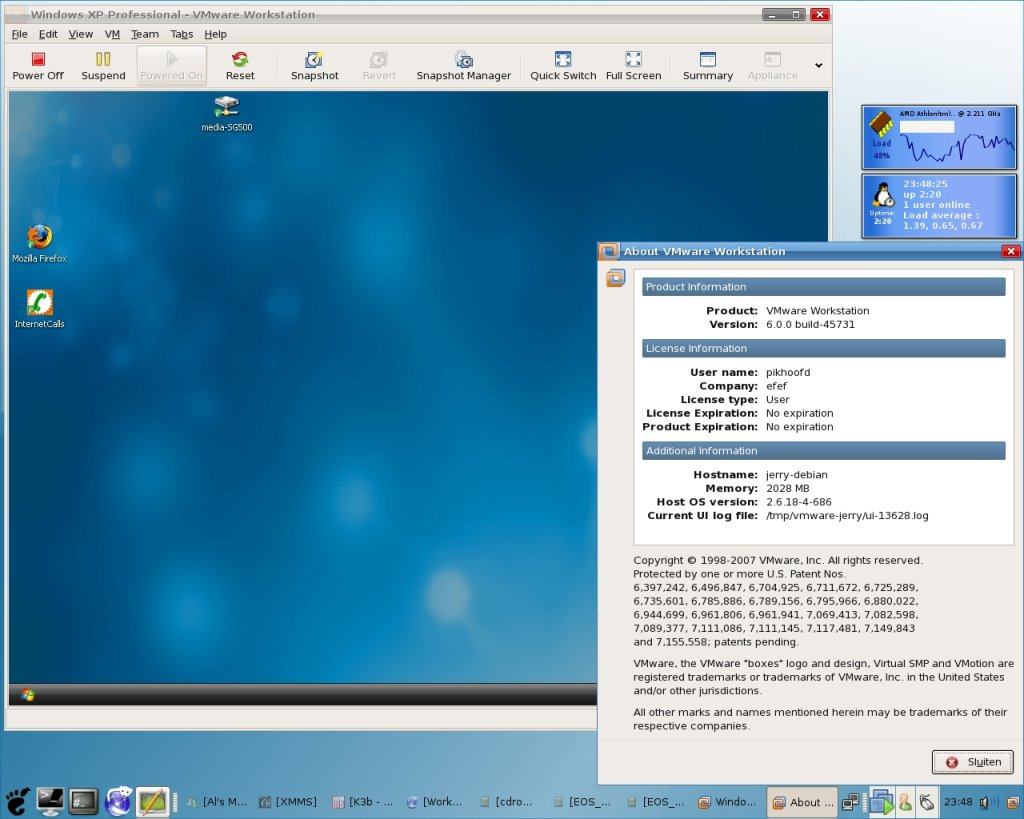 vmwareworkstation screenshot