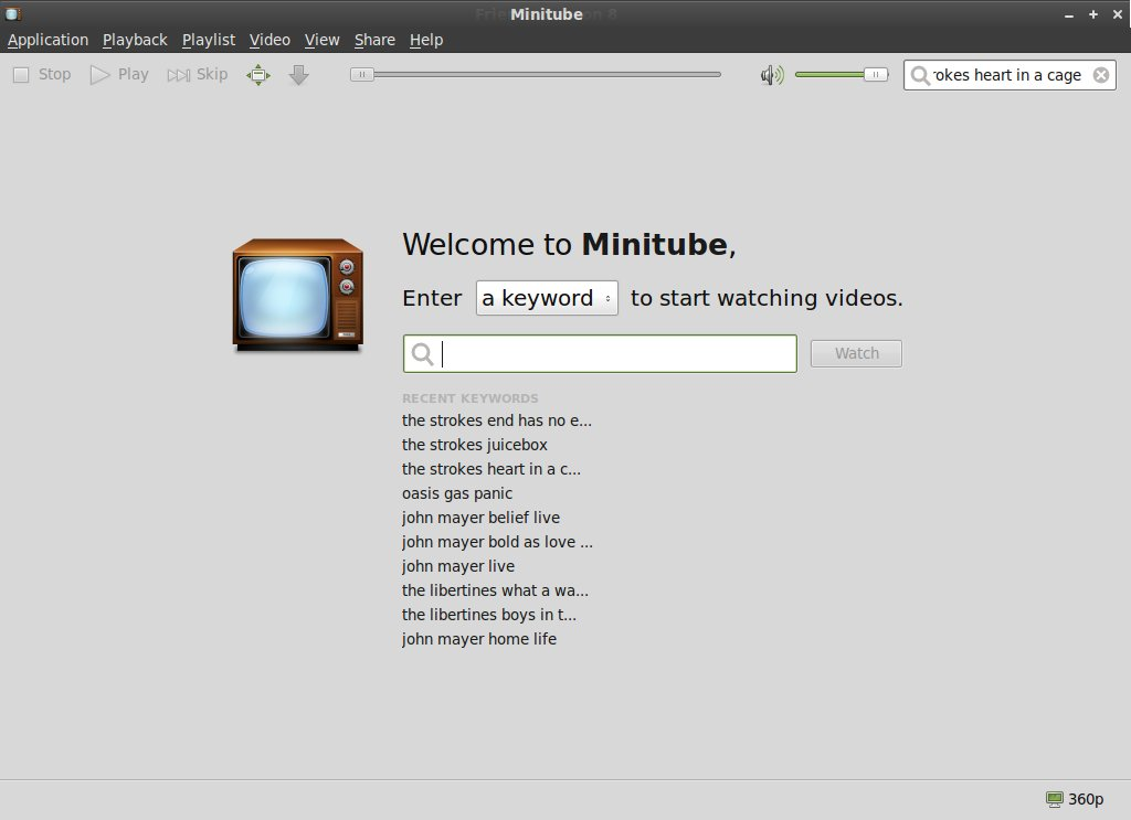 minitube screenshot
