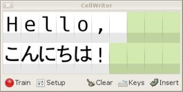 cellwriter screenshot
